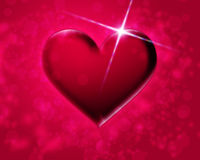 Pink heart. On a red background royalty free illustration