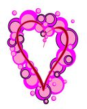 Pink Heart. Illustration of pink hearts with bubbles Vector Illustration