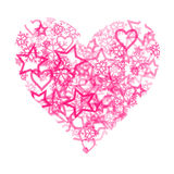 Pink Heart Royalty Free Stock Photos