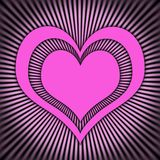 Pink heart. Simple pink heart with shine vector illustration