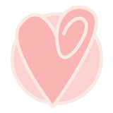 Pink Heart. A pink heart on a pink background Stock Photo