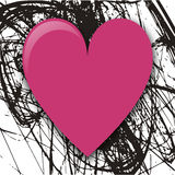 Pink heart. Grungy pink abstract heart design Royalty Free Stock Photography