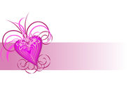 Pink heart. Vector illustration of a colorful heart background Stock Photography