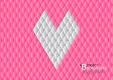 Pink heart abstract background vector illustration, cover template layout, business flyer, Leather texture luxury. Can be used in annual report cover design Stock Photo
