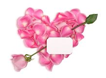 Pink heart with arrow Royalty Free Stock Photo