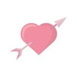 Pink heart arrow love symbol Stock Photos