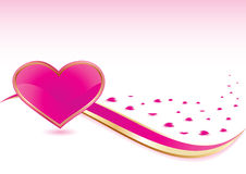 Pink heart background Stock Image