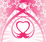 Pink heart background Stock Photography