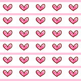 Pink Heart Background icon great for any use. Vector EPS10. Pink Heart Wallpaper Background icon great for any use. Vector EPS10 Royalty Free Stock Photography