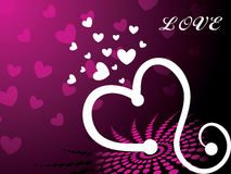 Pink heart background with love illustration Stock Image