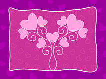 Pink heart background with love illustration Royalty Free Stock Image