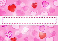 Pink heart background. Paint by illustrator Royalty Free Illustration