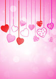 Pink heart  background. Paint by illustrator Vector Illustration