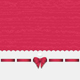 Pink heart background with ribbon pink. Pink Valentine Heart Background with White Border, Ribbon and Bow Stock Photos