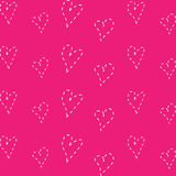 Pink Heart Background set great for any use. Vector EPS10. Royalty Free Stock Image