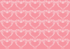 Pink heart background Stock Photos