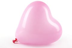 Pink heart balloon Stock Photo