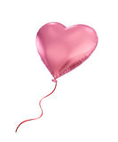 Pink heart balloon isolated on white background Stock Photo