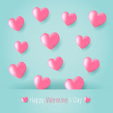 Pink heart balloons Royalty Free Stock Photos