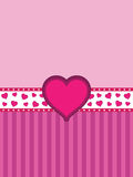 Pink heart banner background Royalty Free Stock Images