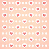 Pink heart bg Stock Images