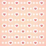 Pink heart bg Stock Images