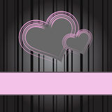 Pink heart on black background Royalty Free Stock Photos