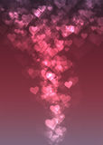 Pink heart bokeh abstract background Royalty Free Stock Photos