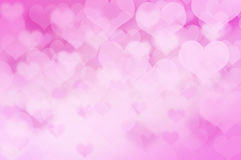 Pink heart bokeh background Royalty Free Stock Photo