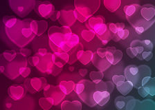Pink heart bokeh background vector, abstract holiday background Royalty Free Stock Photo