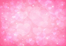 Pink heart bokeh royalty free stock photography