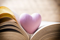 Pink heart of the book. Greeting cards Royalty Free Stock Images