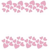 Pink heart border. Vector. stock photo