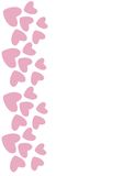 Pink heart border. Vector. Vertical light pink borders of hearts. Vector illustration Stock Photography