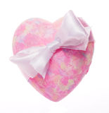 Pink heart with bow Stock Photography