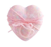 Pink heart with bow Royalty Free Stock Images
