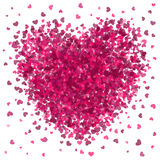 Valentines Day Pink Heart Burst Royalty Free Stock Photography