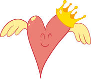 Pink heart cartoon Royalty Free Stock Image