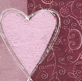 Pink heart on collage background Stock Photos