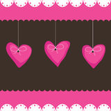Pink heart decorations Royalty Free Stock Photos