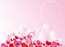 Pink heart design. Pink valentine heart design vector Royalty Free Stock Photography