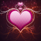 Pink heart and floral Royalty Free Stock Images