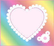 Pink heart frame background Royalty Free Stock Photography
