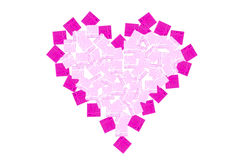 Pink heart gift boxes stock image