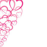 Pink heart greeting card Royalty Free Stock Images