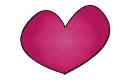 Pink heart icon for people in love stock images