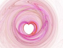 Pink heart illustration Stock Photos