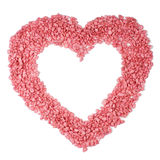 Pink heart - isolated Stock Photo