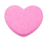 Pink heart. Isolated on white background Stock Image