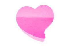 Pink heart. Isolated on a white background Stock Images